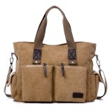 Large Capacity Men Women Canvas Multifunctional Crossbody Bag Canvas Outdoor Handbag