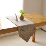 America Style Cotton Linen Tableware Mat Heat Insulation Bowl Pad Tablerunner Tablecloth Desk Cover