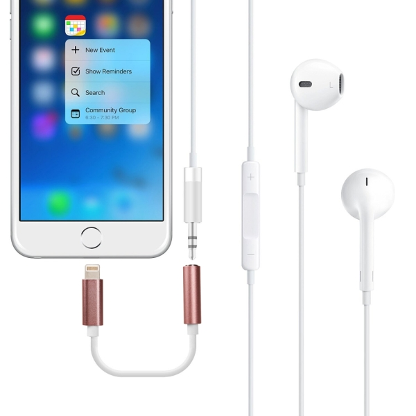 8 pin to audio aux cable for iphone 7 7 plus. Black Bedroom Furniture Sets. Home Design Ideas