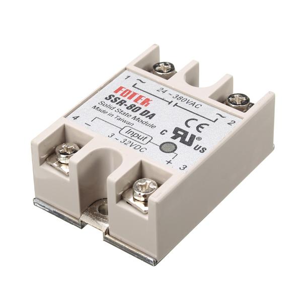80A SSR-80DA Solid State Relay Module DC To AC 24V-380V Output
