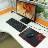 Slim Anti-Slip Bloody Pattern Soft Rubber Smooth Cloth Surface Game Mouse Pad Mat, Size: 320 x 240 x 3 mm
