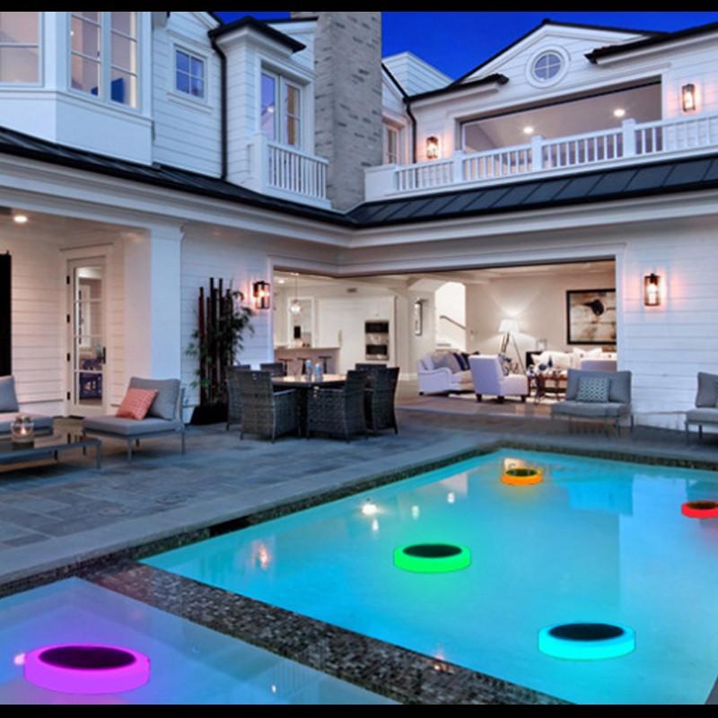 Solar Power RGB Underwater LED Garden Pond Swimming Pool Floating Light