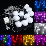 1.5M 10 Ball Bulb LED Fairy String Light Wedding Party Christmas Lamp Xmas Decor