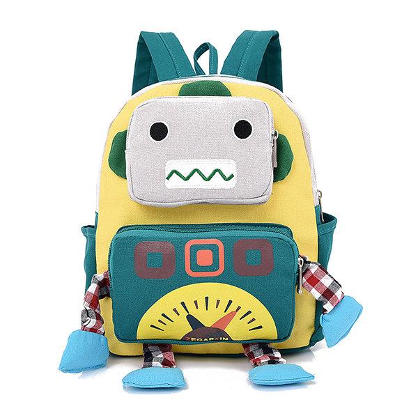 Children Robot Shape Cute Backpack Kids School Bag Outdoor Bag ...