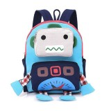 Children Robot Shape Cute Backpack Kids School Bag Outdoor Bag