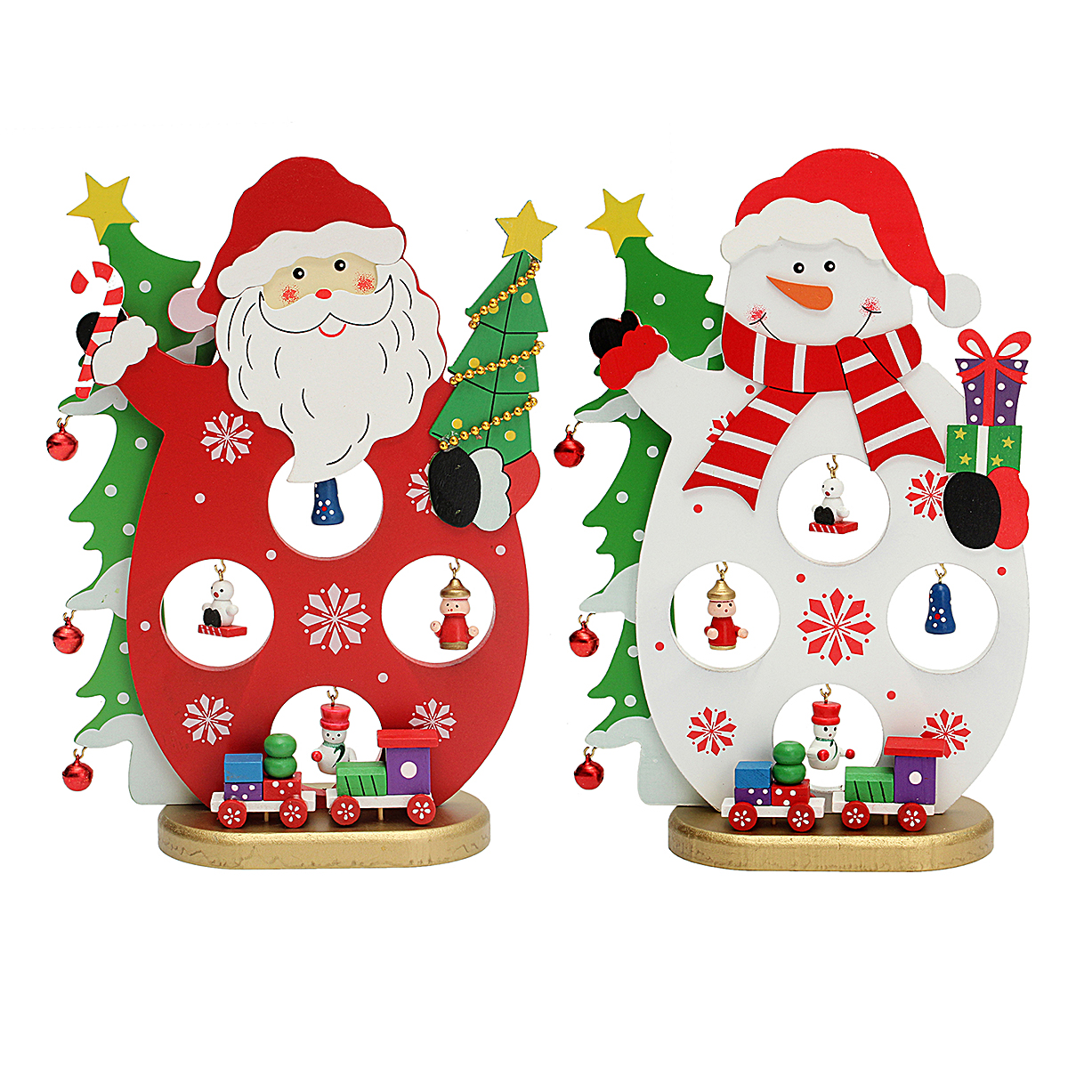 3D Wooden Christmas Santa Claus Snowman Assembling Crafts