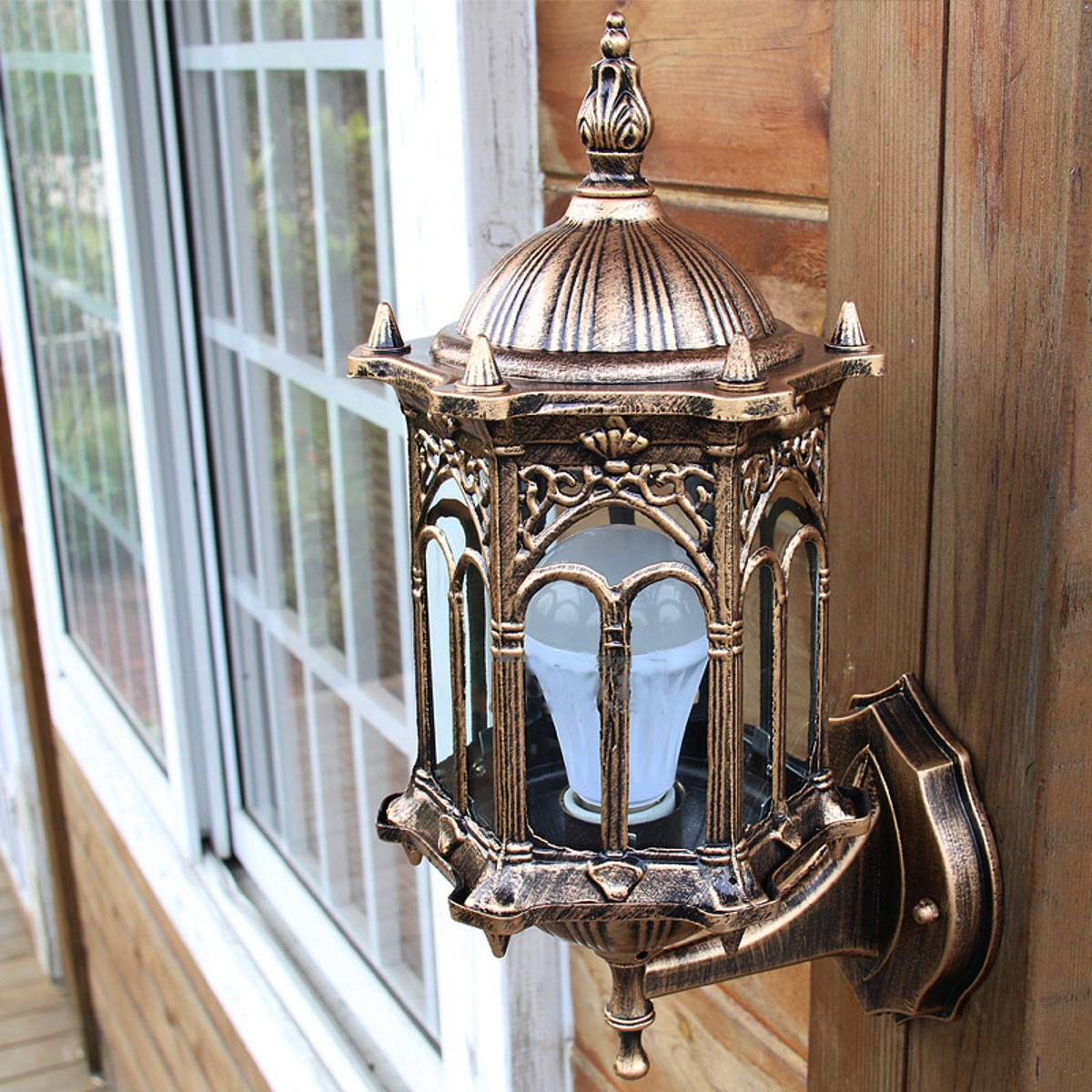 Outdoor bronze antique exterior wall light fixture - Exterior landscape lighting fixtures ...