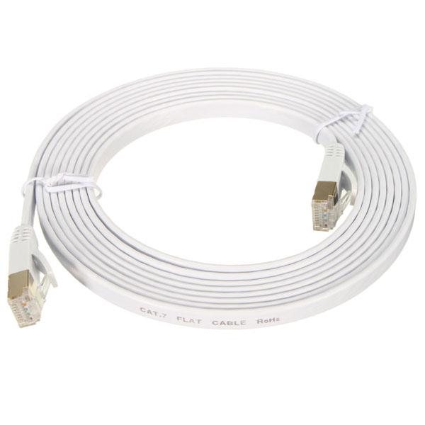 10 Gigabit Cat 7 Flat Ethernet Patch Network Lan Cable