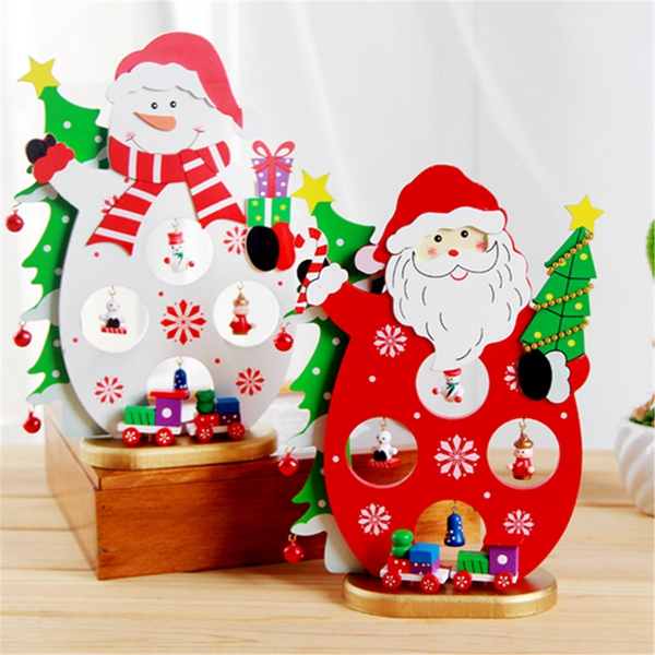 3d wooden christmas santa claus snowman assembling crafts for 3d christmas decoration