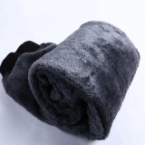 Plus Size Mens Winter Thick Fleece Warm Pants Elastic Waist Loose Casual Pants