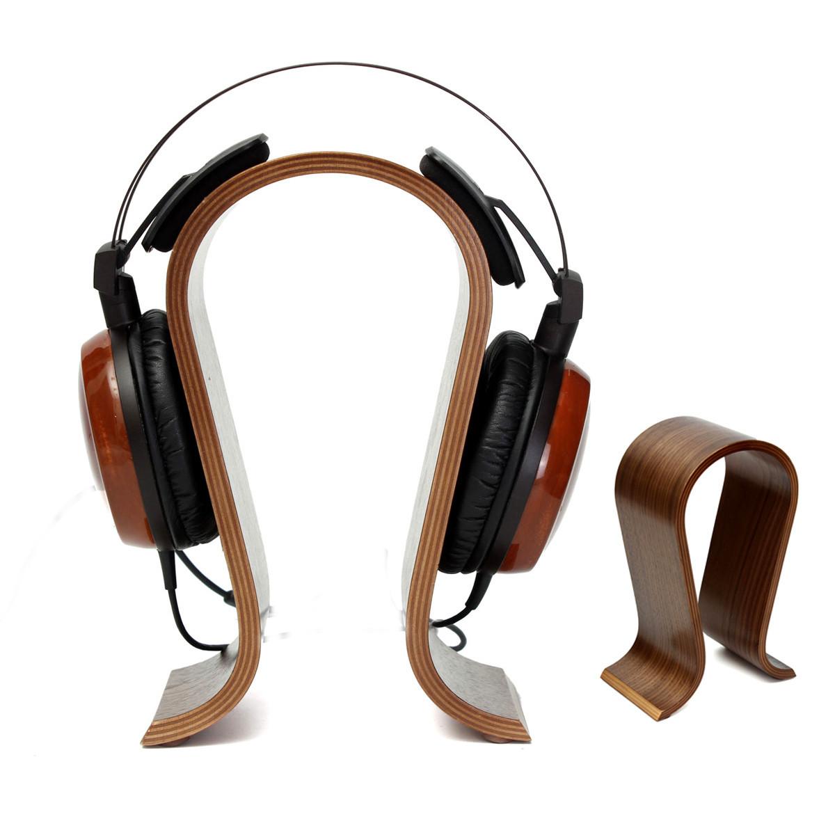 ELE Solid Wooden Gaming Headset Earphone Headphone Stand Hanger Holder Display Rack