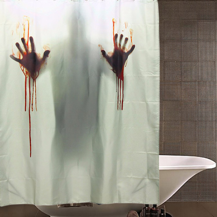 Halloween Horror Blood Bath Polyester Shower Curtain