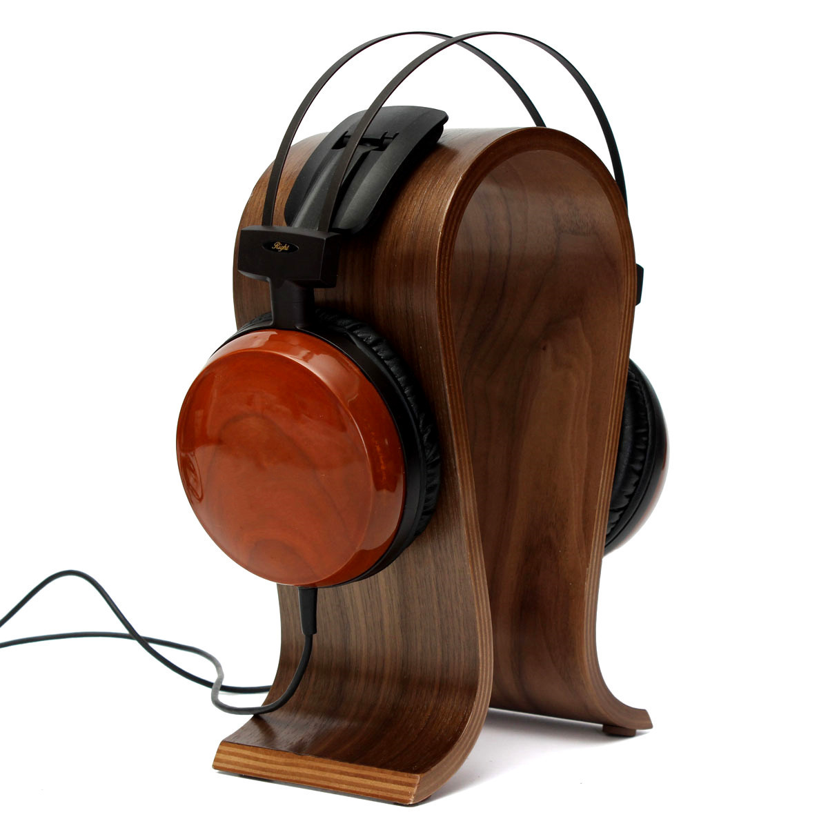 ELE Solid Wooden Gaming Headset Earphone Headphone Stand Hanger Holder Display Rack