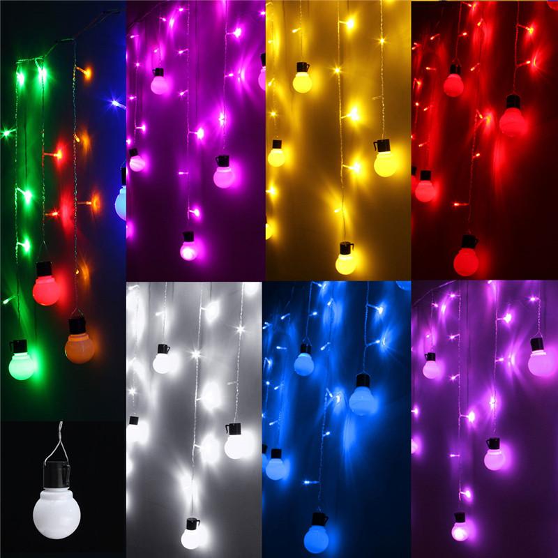 1.5M 10 Ball Bulb LED Fairy String Light Wedding Party Christmas Lamp Xmas Decor