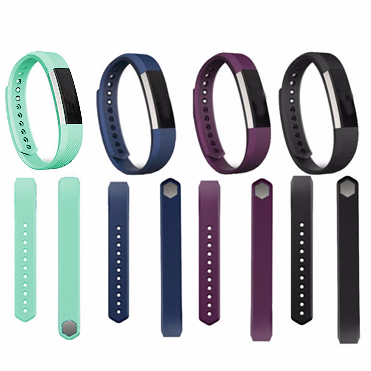 Fitbit Alta Band Size Plum Large Silicone Wristband Watch Strap Replace For