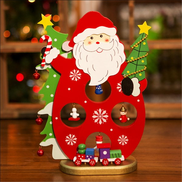 3d wooden christmas santa claus snowman assembling crafts for Home crafted christmas decorations