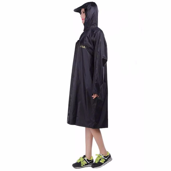 Adult Outdoor Raincoat Long Poncho Hood Thicker Reflective Types Design Work Travel Rainwear