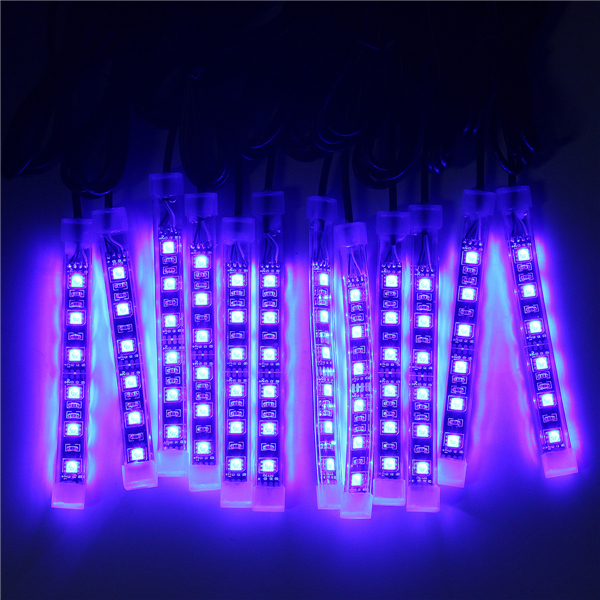 12x LED Remote Wireless Neon Light Strips Kit For Car Truck Lorry Boat  Motorbike