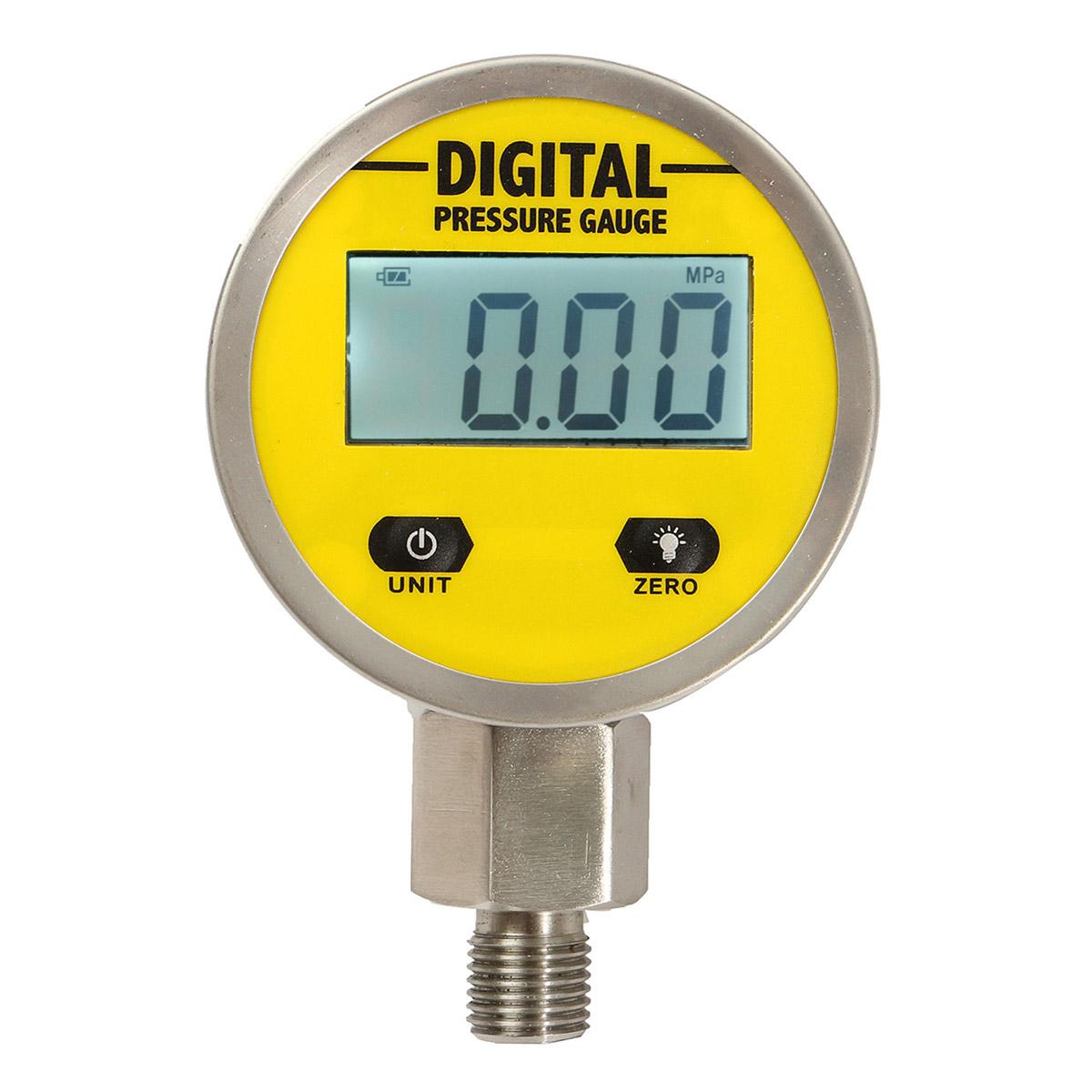 Digital Display Meters : Digital display oil pressure hydraulic gauge test