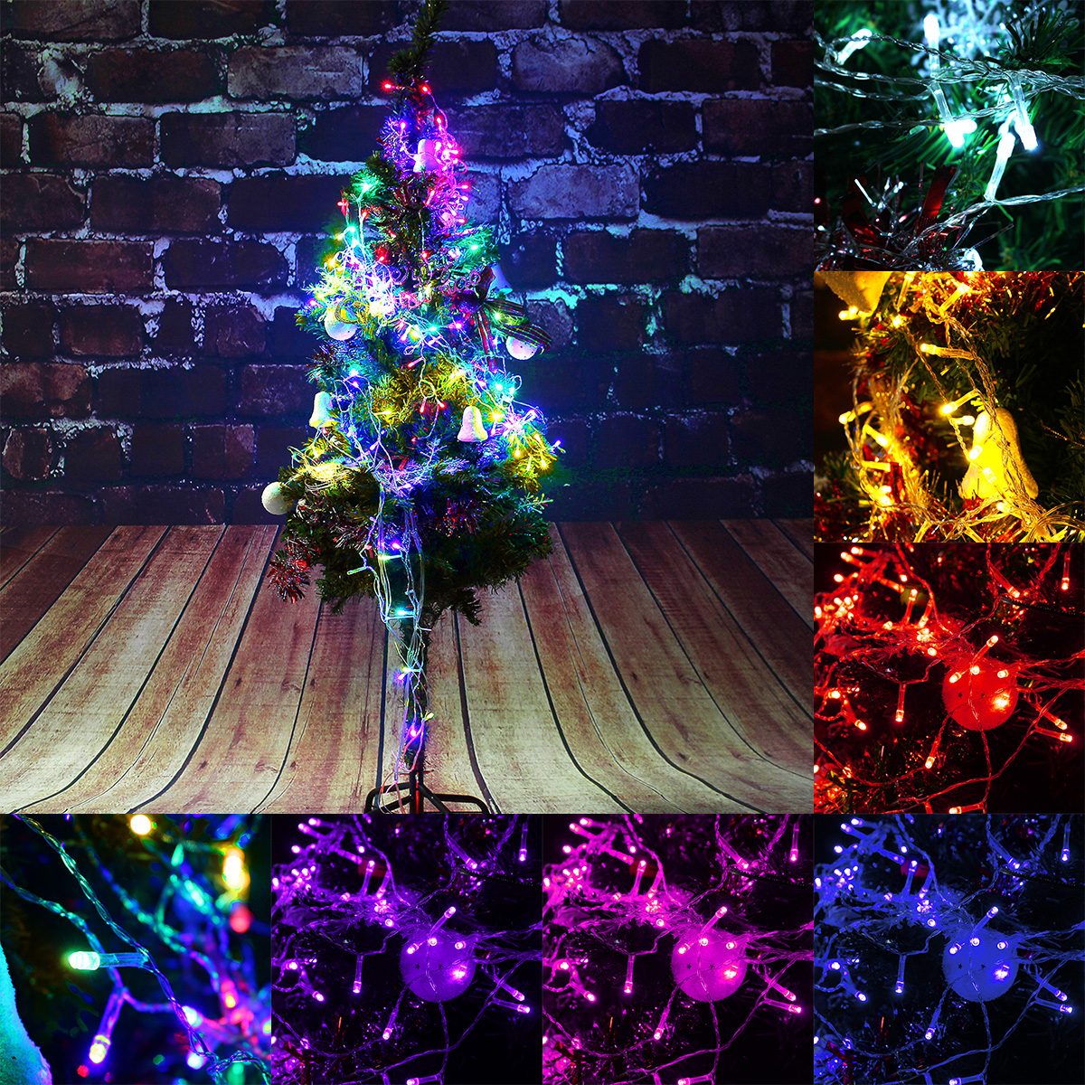 2m 3m 288led Outdoor Christmas Xmas Wedding Party Fairy String Curtain Hanging Window Light Eu Plug