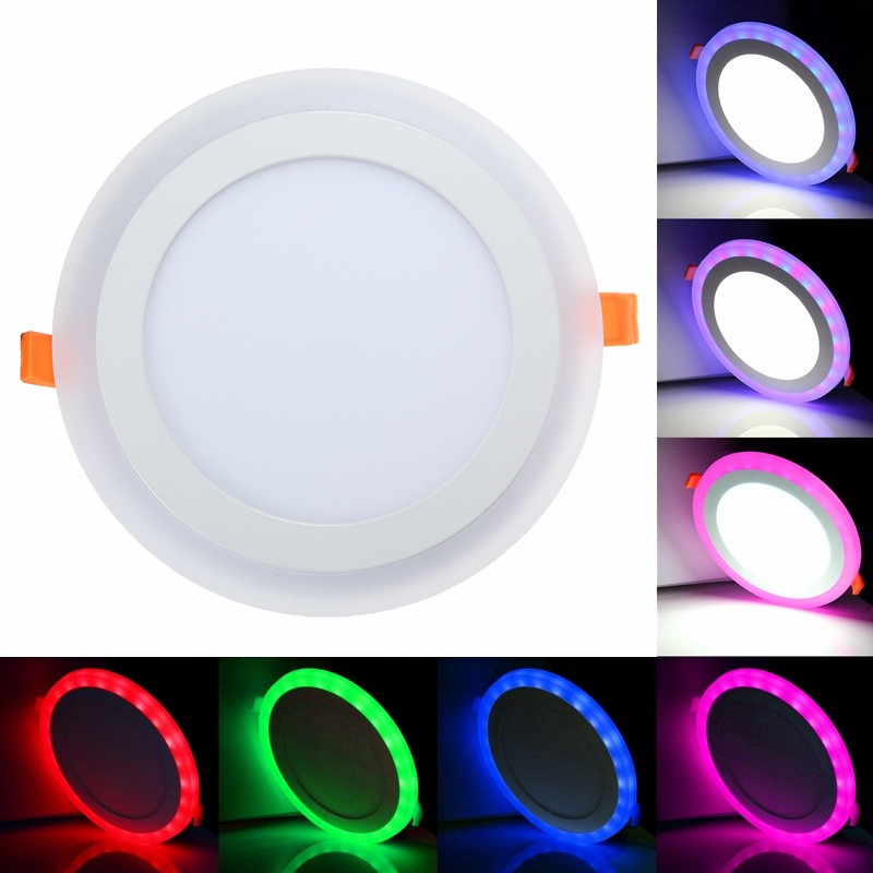 12w Rgb Dual Color Led Recessed Ceiling Round Panel Down