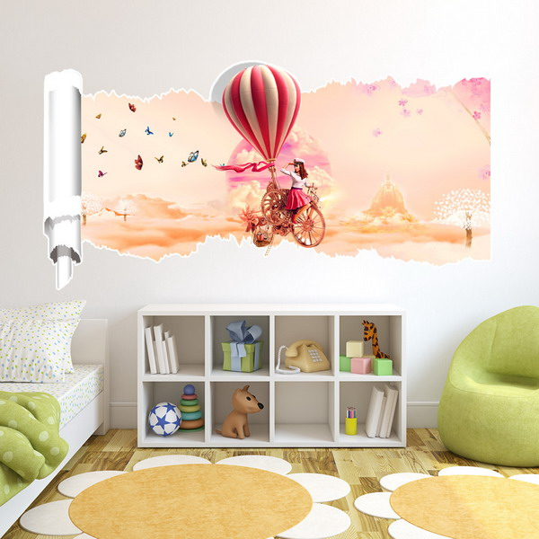 23x47 inches pag 3d wall sticker broken paper series i for 3d room decoration games