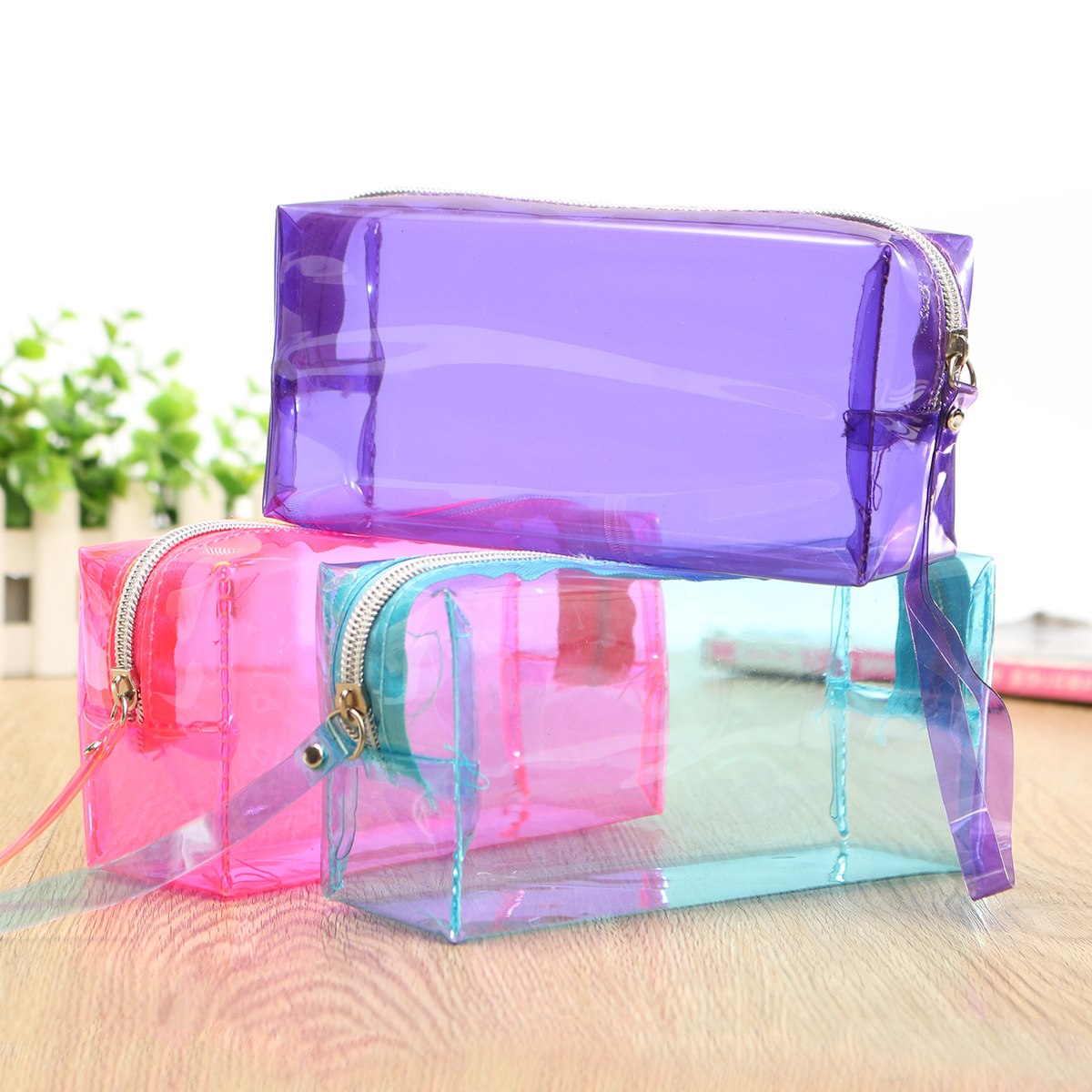 Clear Cosmetic Bags Pouch Zipper Toiletry Multi Functional ...