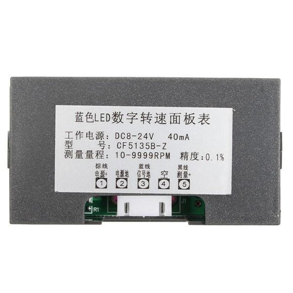 4 Digital Green LED Tachometer RPM Speed Meter + Proximity Switch Sensor NPN