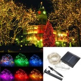 32M Solar Powered LED String Sliver Wire Fairy Light Christmas Lamp Waterproof