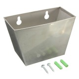 Stainless Steel Wall Mount Beer Bottle Opener Cap Box with Screws & Bulged Tubes