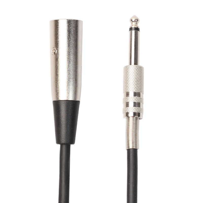 1.8m XLR 3-Pin Male to 1/4 inch (6.35mm) Mono Shielded Microphone Audio Cord Cable