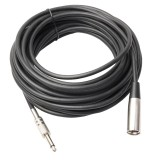 10m XLR 3-Pin Male to 1/4 inch (6.35mm) Mono Shielded Microphone Audio Cord Cable