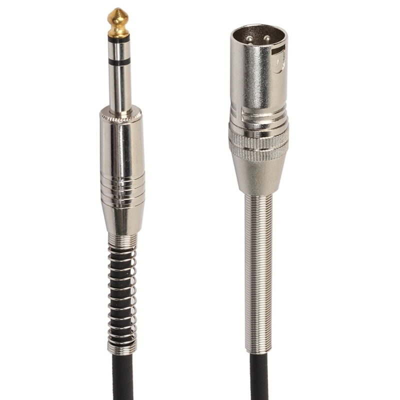 30cm XLR 3-Pin Male to 1/4 inch (6.35mm) Female Plug Stereo Microphone Audio Cord Cable