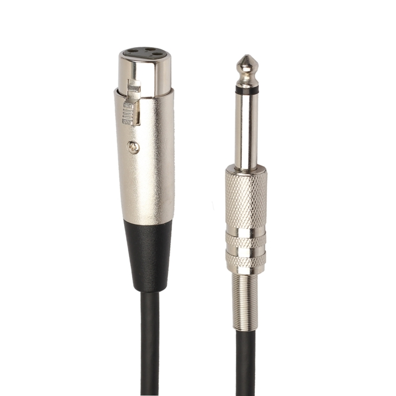 30cm XLR 3-Pin Female to 1/4 inch (6.35mm) Male Plug Stereo TRS Microphone Audio Cord Cable