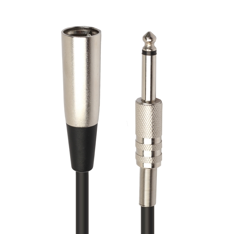 30cm XLR 3-Pin Male to 1/4 inch (6.35mm) XLR Female Plug Stereo Microphone Audio Cord Cable