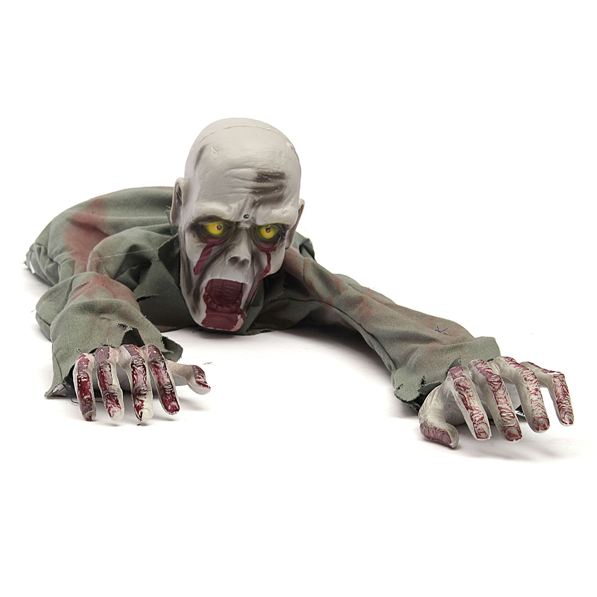 Crawling zombie scary horror bloody haunted animated prop for Animated halloween decoration