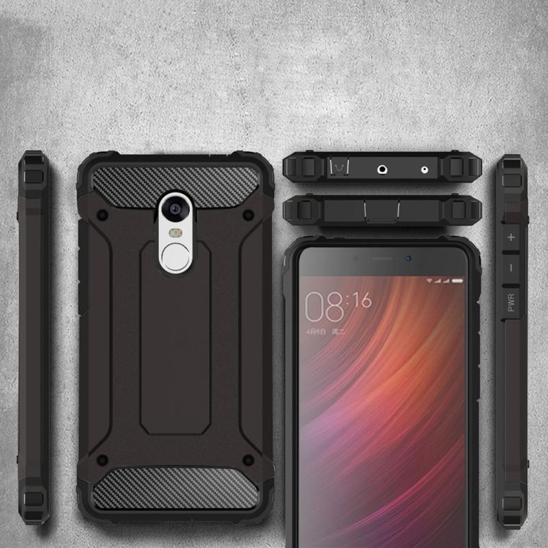 new concept dd749 41d22 For Xiaomi Redmi Note 4 Tough Armor TPU + PC Combination Case (Black)