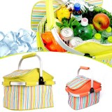 20L Outdoor Pinic Insulation Bag BBQ Lunch Food Storage Ice Pack Pouch Thermal Fresh Preservation