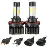 Pair H4 H7 H8/H11 H13 9005 9006 LED COB Headlight 40W 4800LM 6000K White