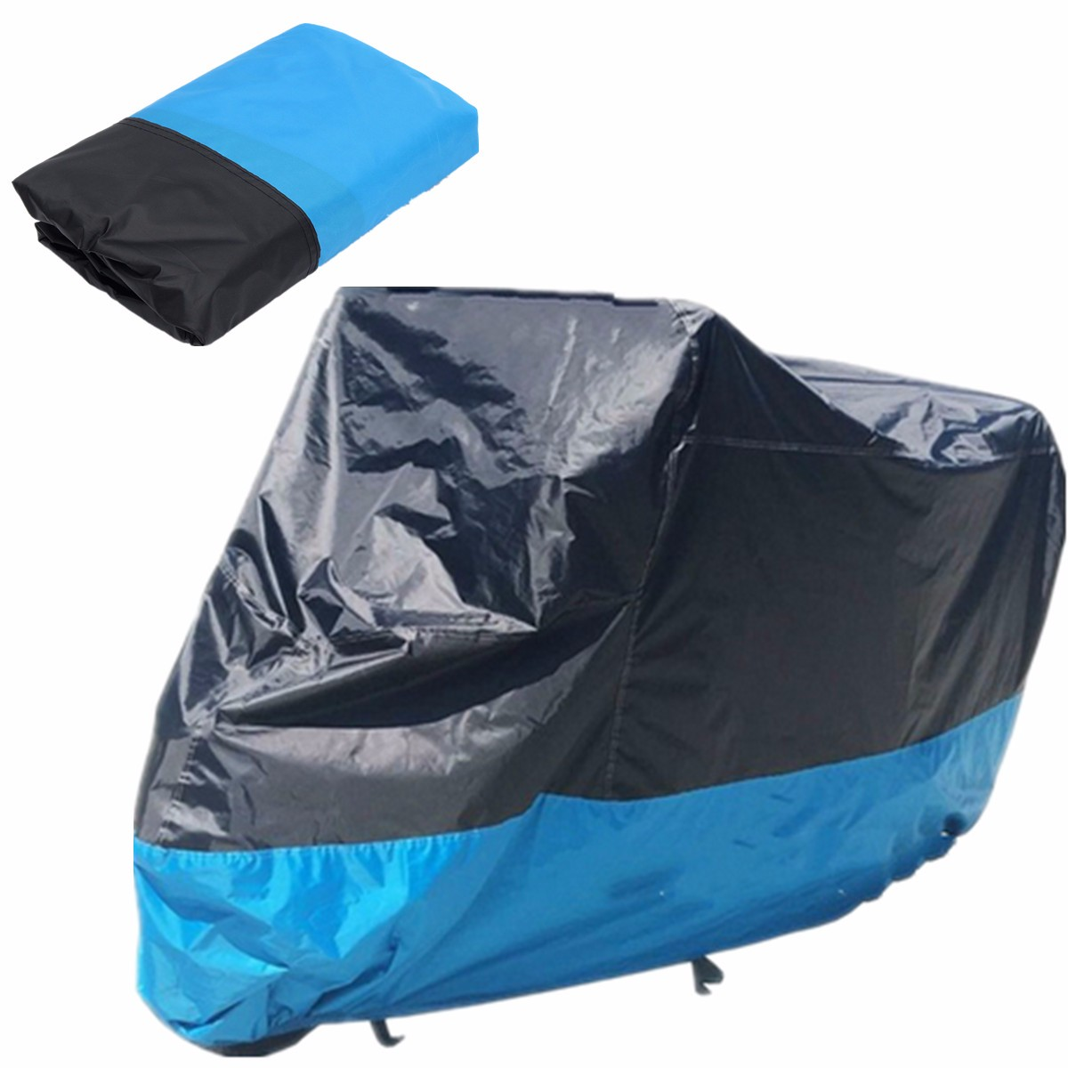 Book Cover Black Xl : Motorcycle waterproof cover scooter rain dust blue
