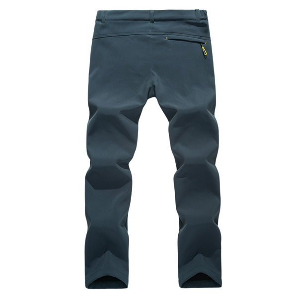 Outdoor Mountaineering Pants Thick Fleece Warm Pants Mens Breathable Quick Drying Soft Shell Trouser