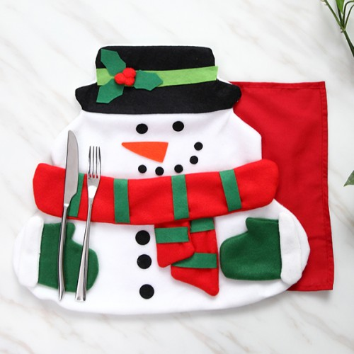 Christmas Santa Claus Table Mat with Napkin Cloth Pad For Dining Table Home Decor Xmas Gifts