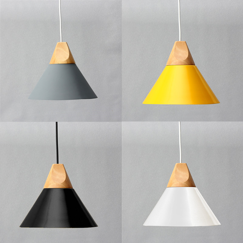 Diameter 25cm modern wooden pendant ceiling hanging lamp for Modern hanging pendant lights