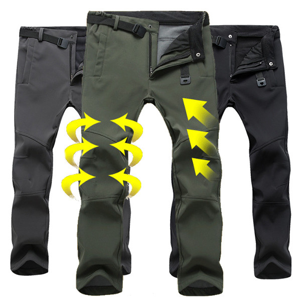 Mens Thick Warm Pants Outdoor Climbing Hiking Waterproof Quick Drying Trousers Alex Nld