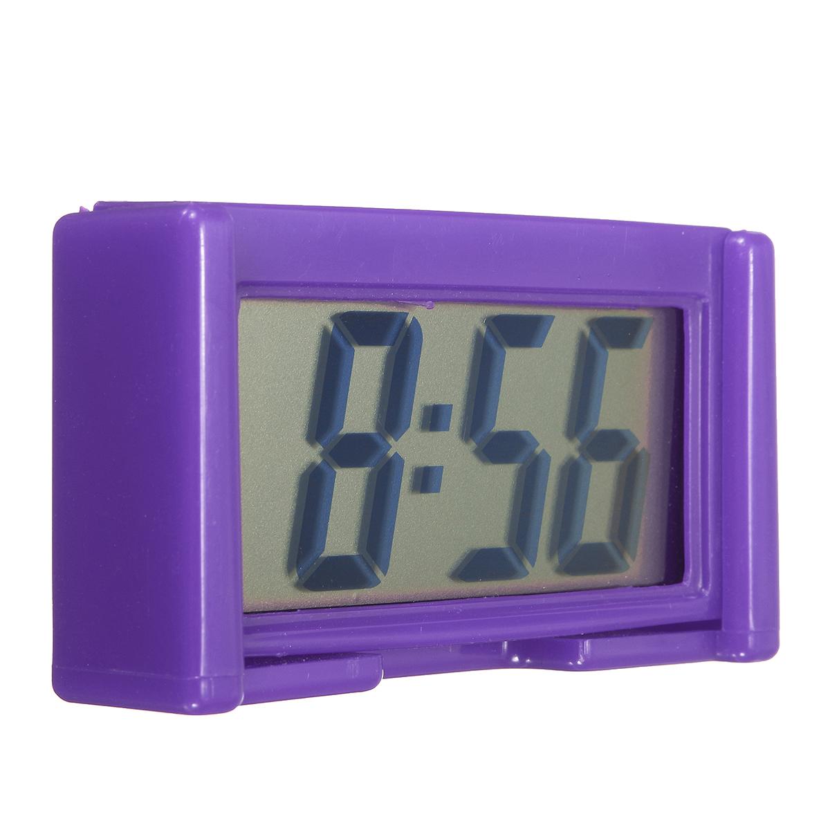 4 Colors Automotive Digital Car Lcd Clock Self Adhesive