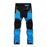 Mens Outdoor Stitching Quick-drying Pants Waterproof Windproof Sport Pants
