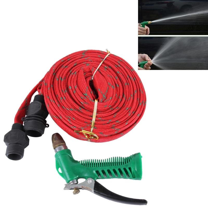 20M High Pressure Garden Car Hose Spray Washing Water Gun Sprayer Cleaner  Nozzle (Red)