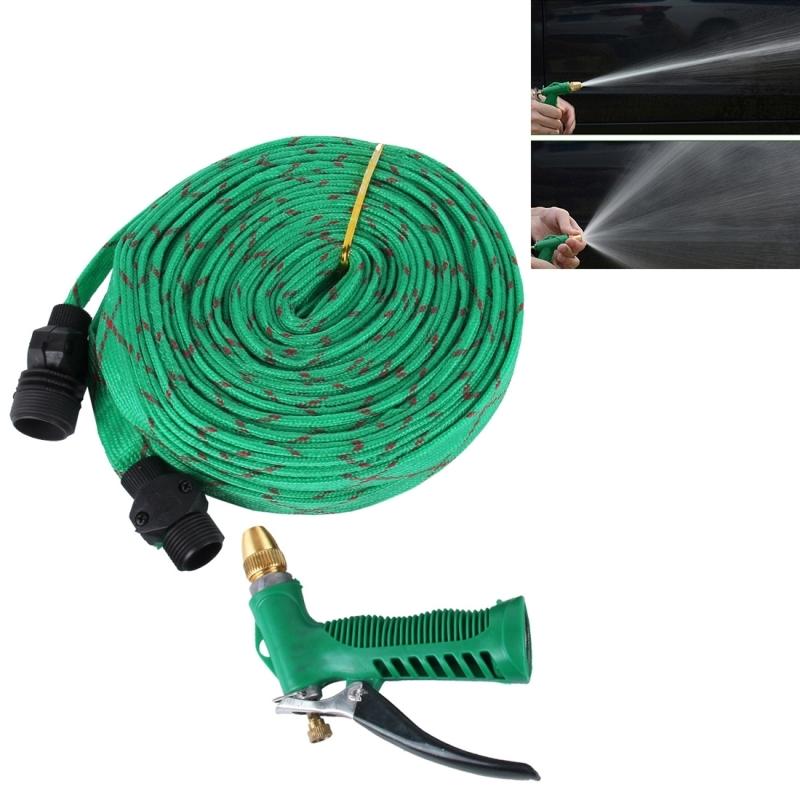 30m High Pressure Garden Car Hose Spray Washing Water Gun Sprayer Cleaner Nozzle Green Alex Nld