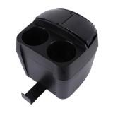 SHUNWEI SD-1605 Multifunction 3 in 1 Car Cup Holder Drink Bottle Can Garbage Can Portable Vehicle Trash Can Bin Rubbish Bin Organizer (Black)