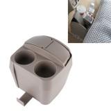 SHUNWEI SD-1605 Multifunction 3 in 1 Car Cup Holder Drink Bottle Can Garbage Can Portable Vehicle Trash Can Bin Rubbish Bin Organizer (Khaki)